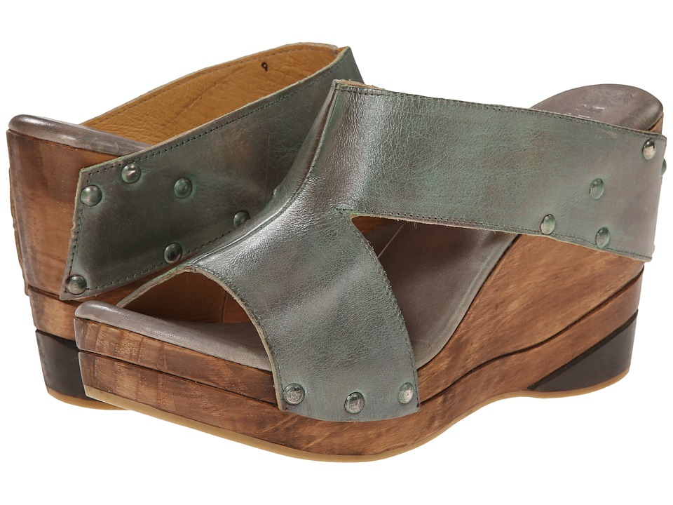 Bed Stu - Olea (Grey Rustic Teal BFS) Women's Wedge Shoes