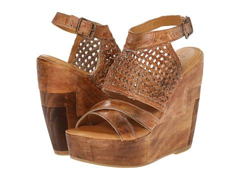 Bed Stu - Petra (Tan Rustic White BFS) Women's Wedge Shoes