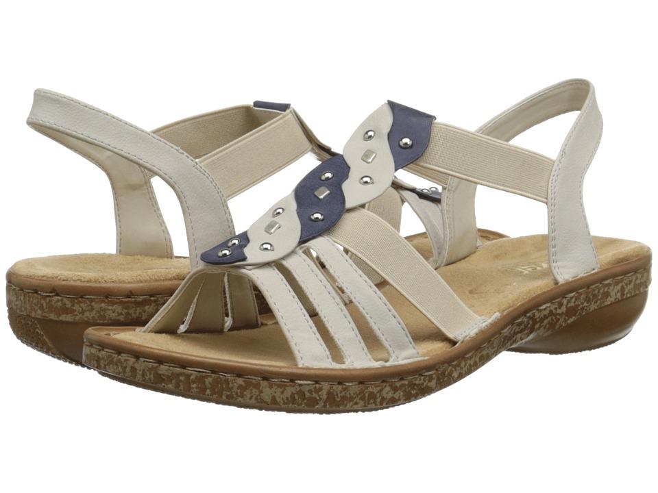 Rieker - 62838 Regina 38 (Chalk/Jeans) Women's Shoes
