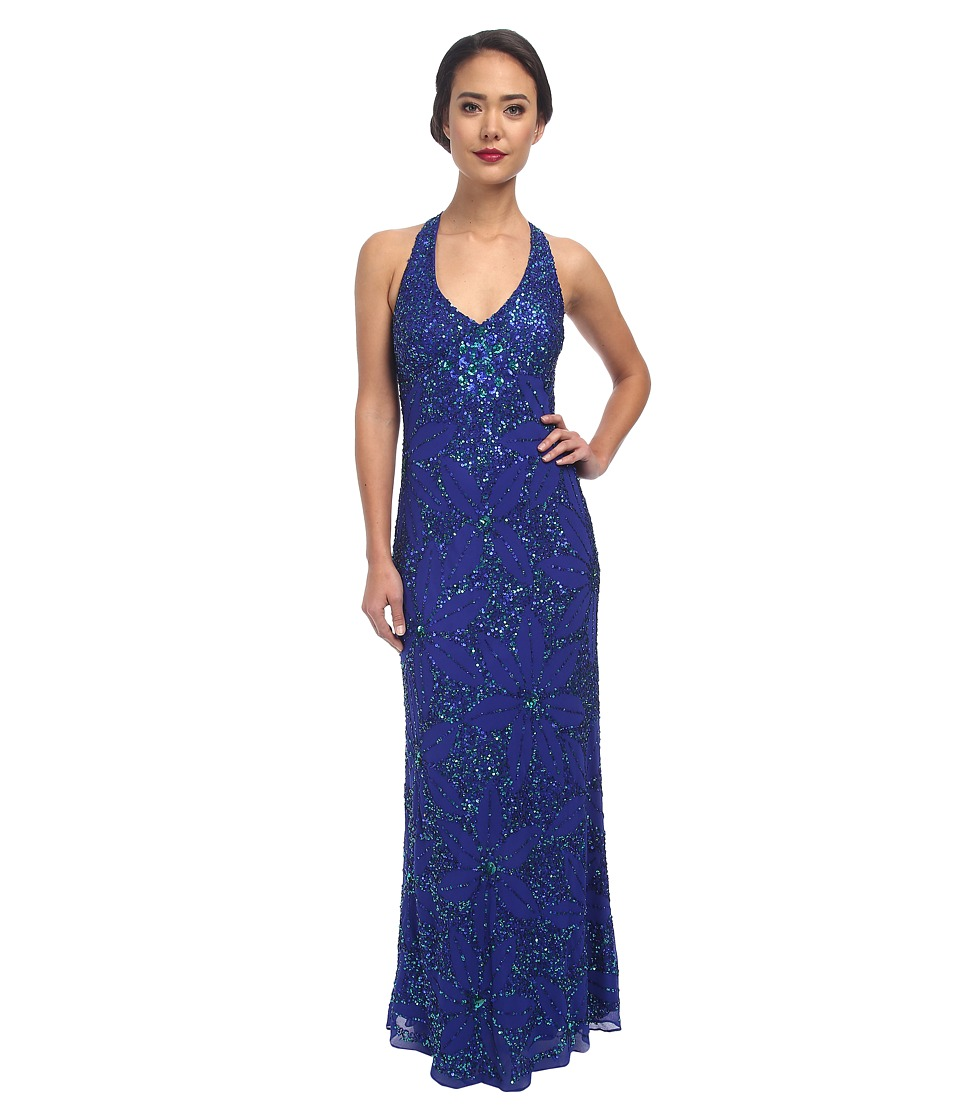 Adrianna Papell - Dream Girls Bead Prom Gown (Sapphire) Women's Dress