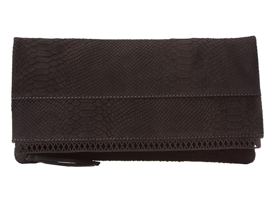 Kooba - Marilyn Clutch (Black (Cut Python)) Clutch Handbags