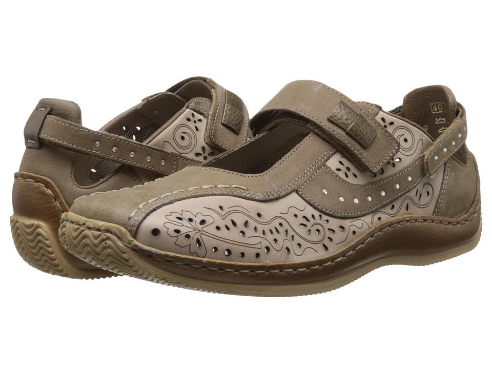 Rieker - L1775 Celia 75 (Fango/Porzellan) Women's Flat Shoes