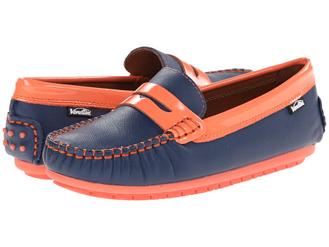 Venettini Kids - 55-Randy (Toddler/Little Kid/Big Kid) (Denim Zafiano Denim/Coral Patent) Girls Shoes