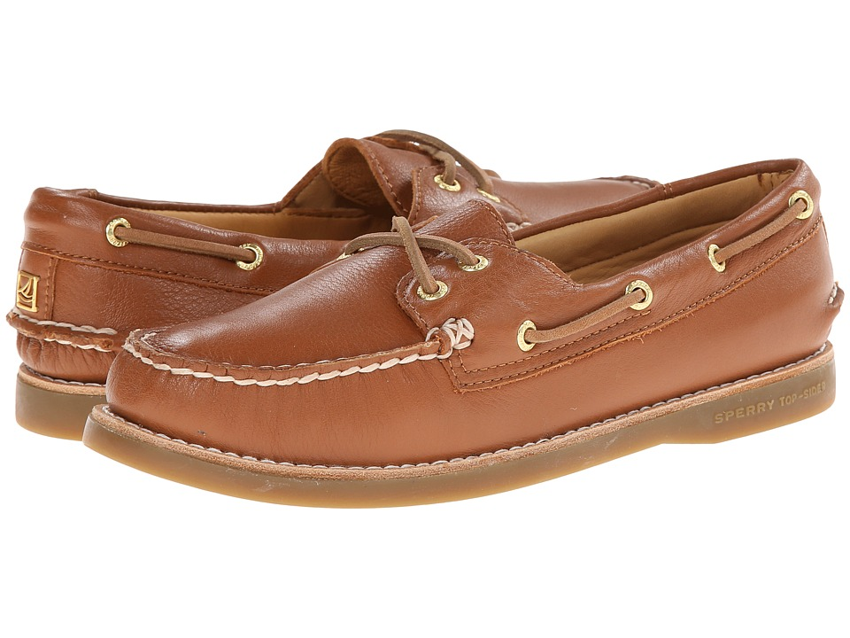 Sperry - Gold A/O 2-Eye Leather (Tan) Women's Lace up casual Shoes