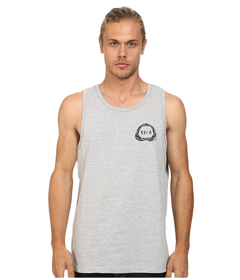 RVCA - Shark Teeth Tank (Athletic Heather) Men's Sleeveless