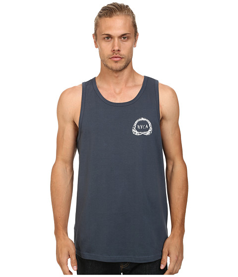 RVCA - Shark Teeth Tank (Midnight) Men