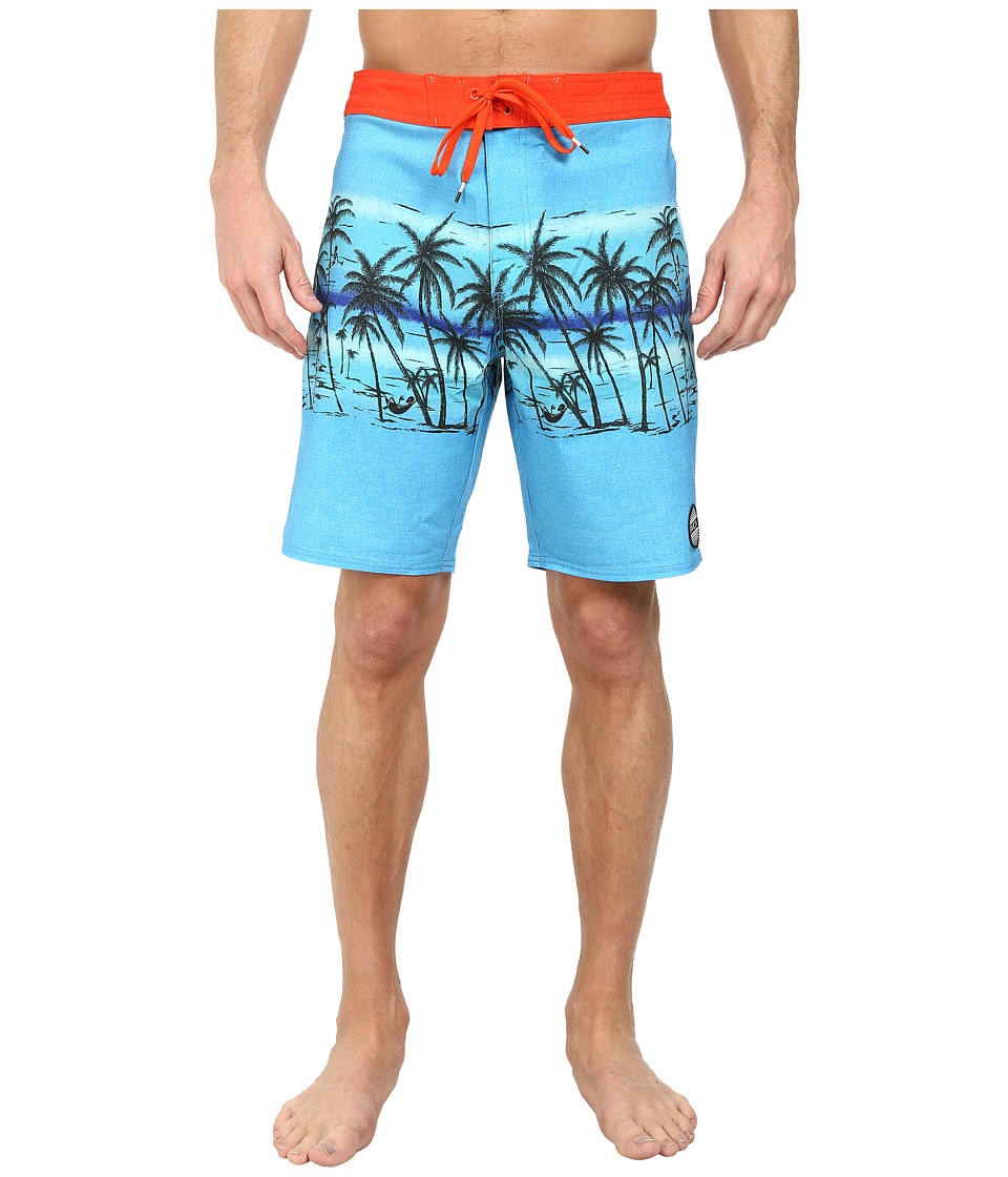 RVCA - Deadmans Bay Trunk (Bright Blue) Men's Swimwear