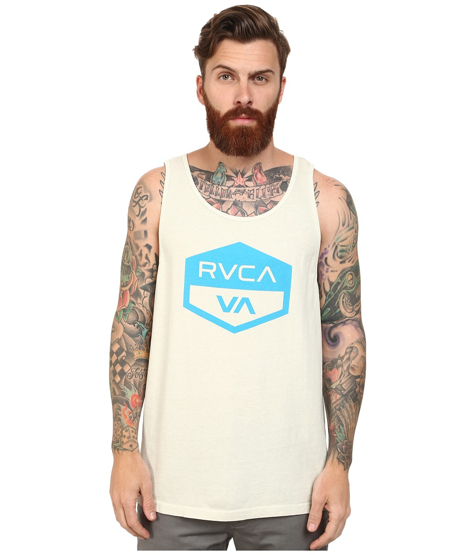 RVCA - Hex Badge Tank (Silver Beach) Men's Sleeveless