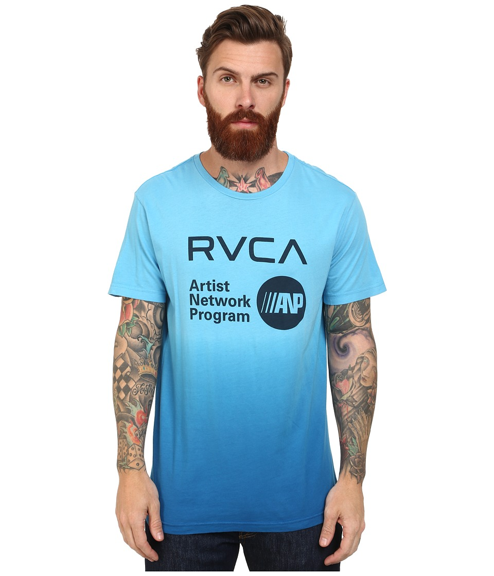 RVCA - ANP Printed Pocket Tee (Bright Blue) Men's T Shirt