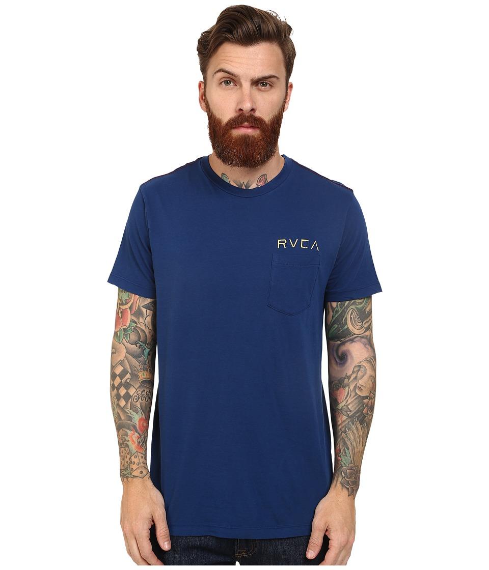 RVCA - Cash Or Credit Pocket Tee (Indigo) Men's T Shirt