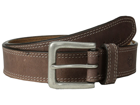 Timberland - 35mm Boot Leather Belt (Dark Brown) Men's Belts