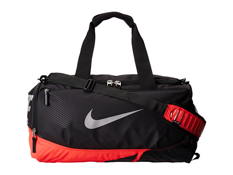 Nike - Vapor Max Air Small Duffel (Black/Daring Red/Metallic Silver) Duffel Bags
