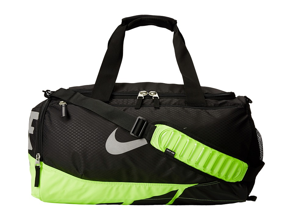 Nike - Vapor Max Air Small Duffel (Black/Volt/Metallic Silver) Duffel Bags