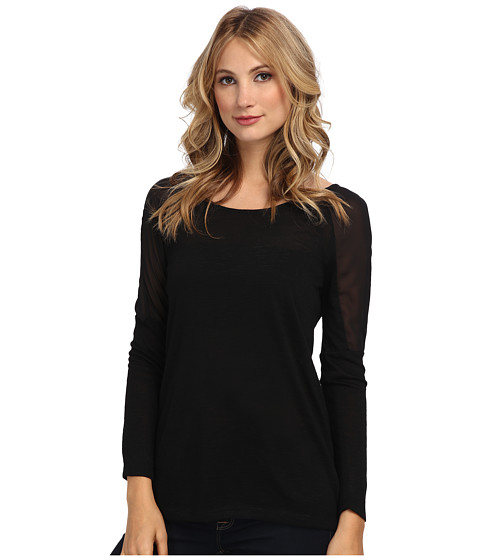 Jack by BB Dakota - Dugan Textured Jersey Tee (Black) Women
