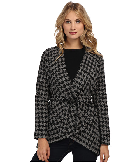 Jack by BB Dakota - Isaacs Houndstooth Wool Jacket (Medium Heather Grey) Women