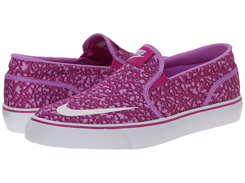 Nike SB Kids - Toki Slip-on Canvas Print (Big Kid) (Fuchsia Flash/Fuchsia Glow/Bold Berry/White) Girl's Shoes