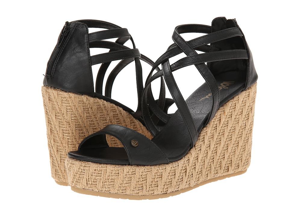 Volcom - Getting Around (Vintage Black) Women's Wedge Shoes