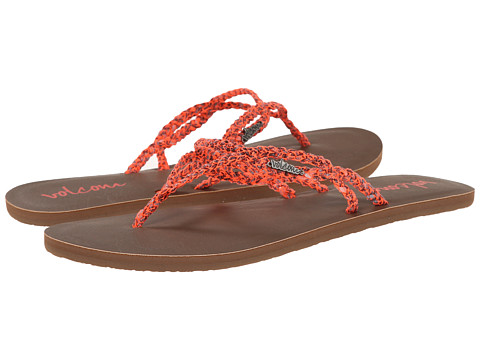 Volcom - Party (Electric Coral) Women's Sandals
