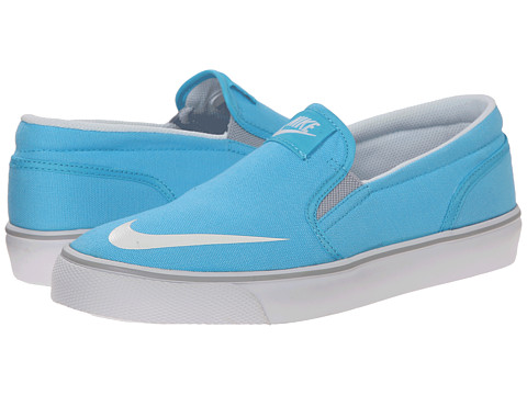 Nike SB Kids - Toki Slip-on Canvas (Big Kid) (Clearwater/Wolf Grey/White) Girl