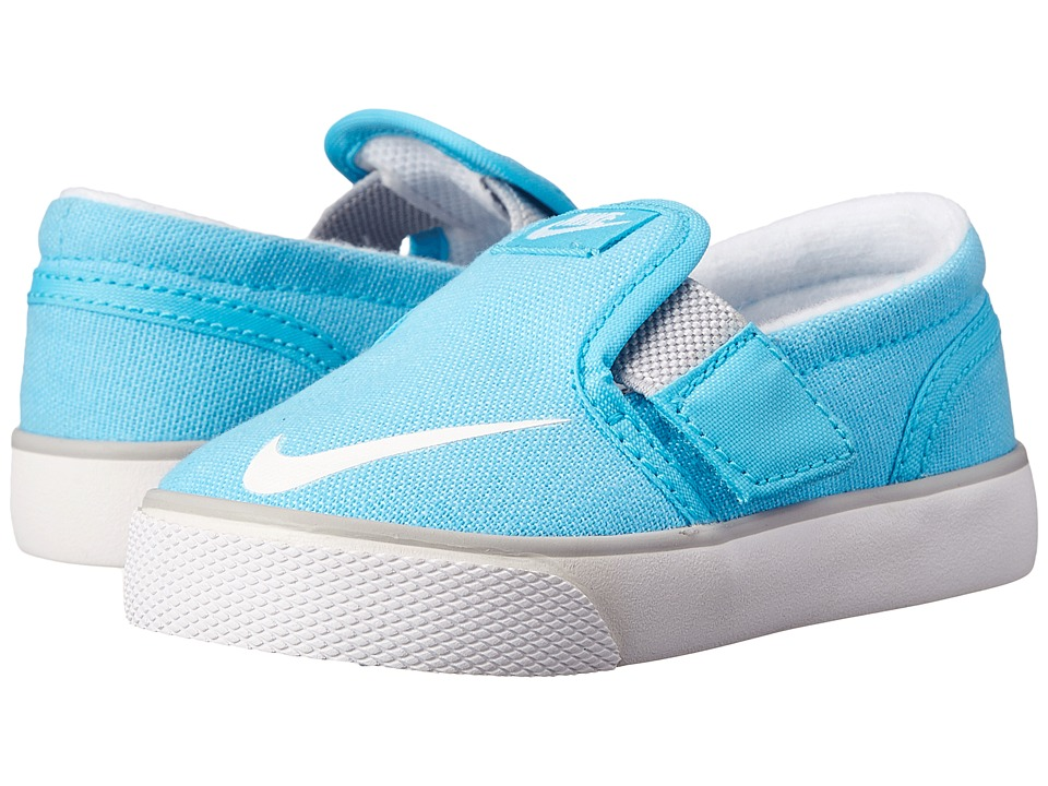 Nike SB Kids - Toki Slip-on Canvas (Infant/Toddler) (Clearwater/Wolf Grey/White) Girl's Shoes