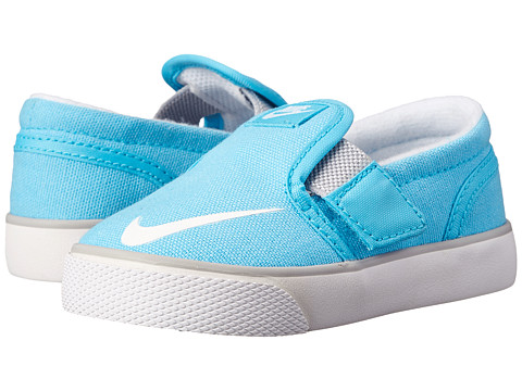 Nike SB Kids - Toki Slip-on Canvas (Infant/Toddler) (Clearwater/Wolf Grey/White) Girl