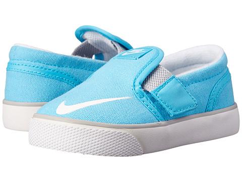 Nike SB Kids - Toki Slip-on Canvas (Infant/Toddler) (Clearwater/Wolf Grey/White) Girl