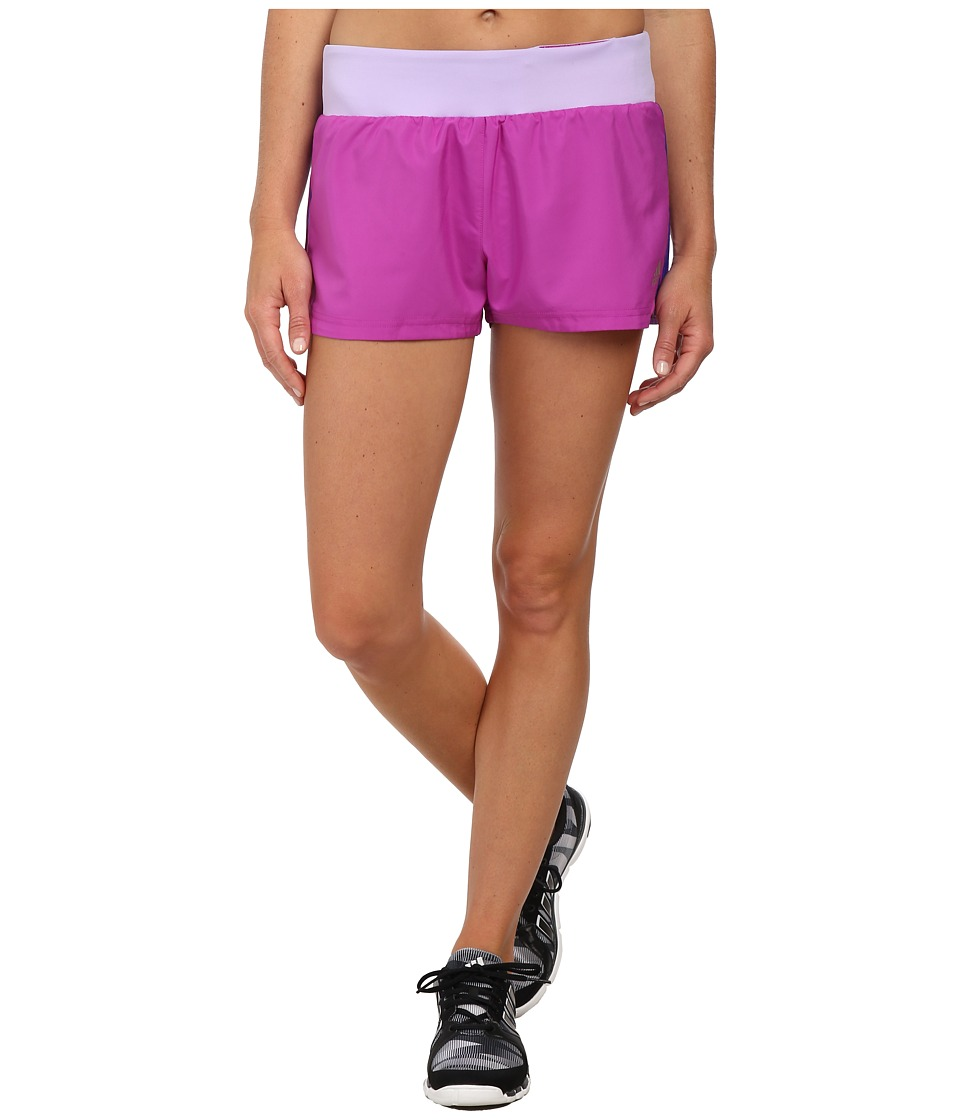 adidas - Mia 3 Woven Short - 3 Stripes (Flash Pink/Night Flash) Women's Shorts