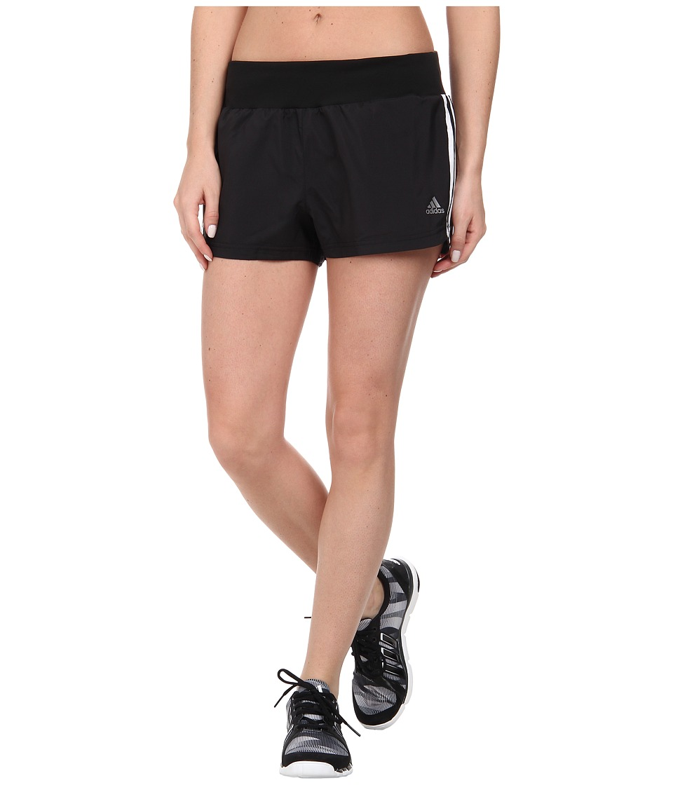 adidas - Mia 3 Woven Short - 3 Stripes (Black) Women
