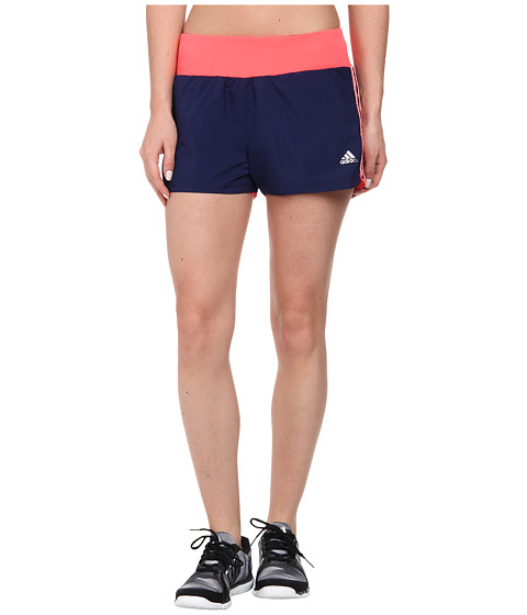 adidas - Mia 3 Woven Short - 3 Stripes (Night Sky/Light Flash Red) Women's Shorts