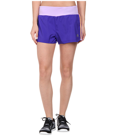 adidas - Mia 3 Woven Short - 3 Stripes (Night Flash/Flash Orange) Women's Shorts