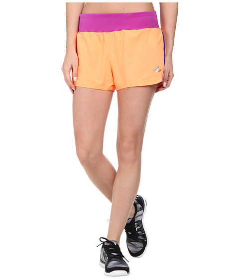 adidas - Mia 3 Woven Short - 3 Stripes (Flash Orange/Night Flash) Women's Shorts
