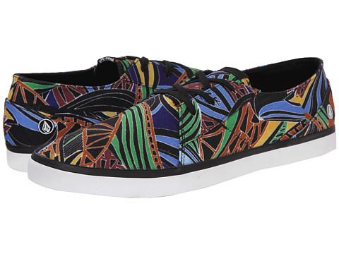 Volcom - Lo Fi 2 (Black Print) Men's Lace up casual Shoes
