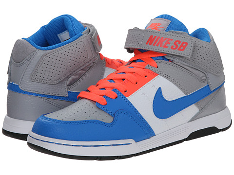 Nike SB Kids - Mogan Mid 2 Jr (Little Kid/Big Kid) (Wolf Grey/Photo Blue/Hot Lava/White) Kids Shoes