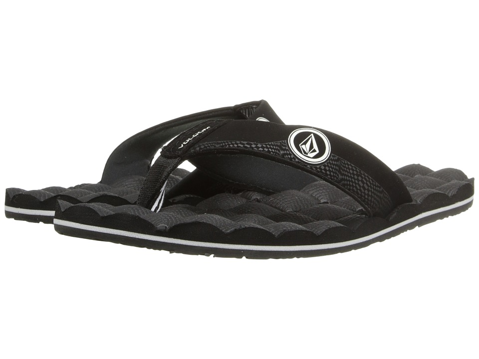Volcom Kids - Recliner (Little Kid/Big Kid) (Black/White) Boys Shoes
