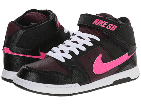 Nike SB Kids - Mogan Mid 2 Jr (Little Kid/Big Kid) (Merlot/Pink Pow/Black/White) Girls Shoes