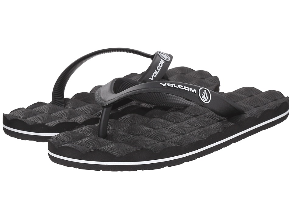 Volcom Kids - Recliner Rubber (Little Kid/Big Kid) (Black) Boys Shoes