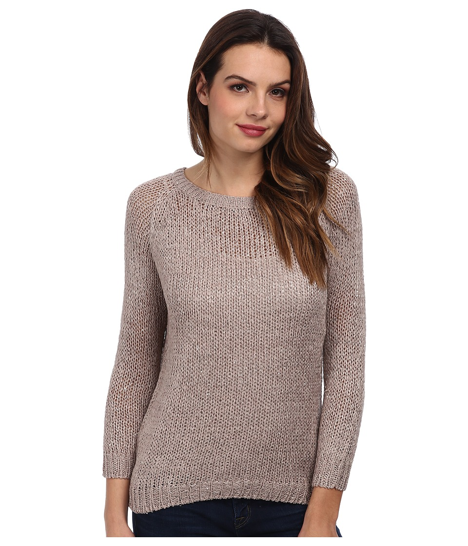 Brigitte Bailey - Ribbon Tie Back Sweater (Taupe) Women's Sweater