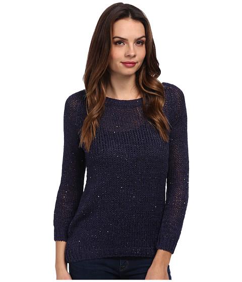 Brigitte Bailey - Ribbon Tie Back Sweater (Navy) Women's Sweater