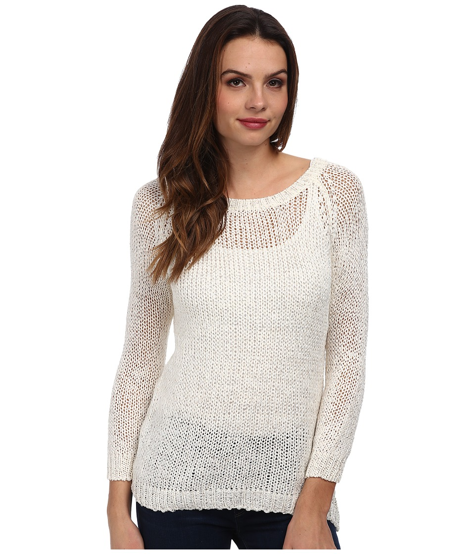 Brigitte Bailey - Ribbon Tie Back Sweater (Ivory) Women's Sweater