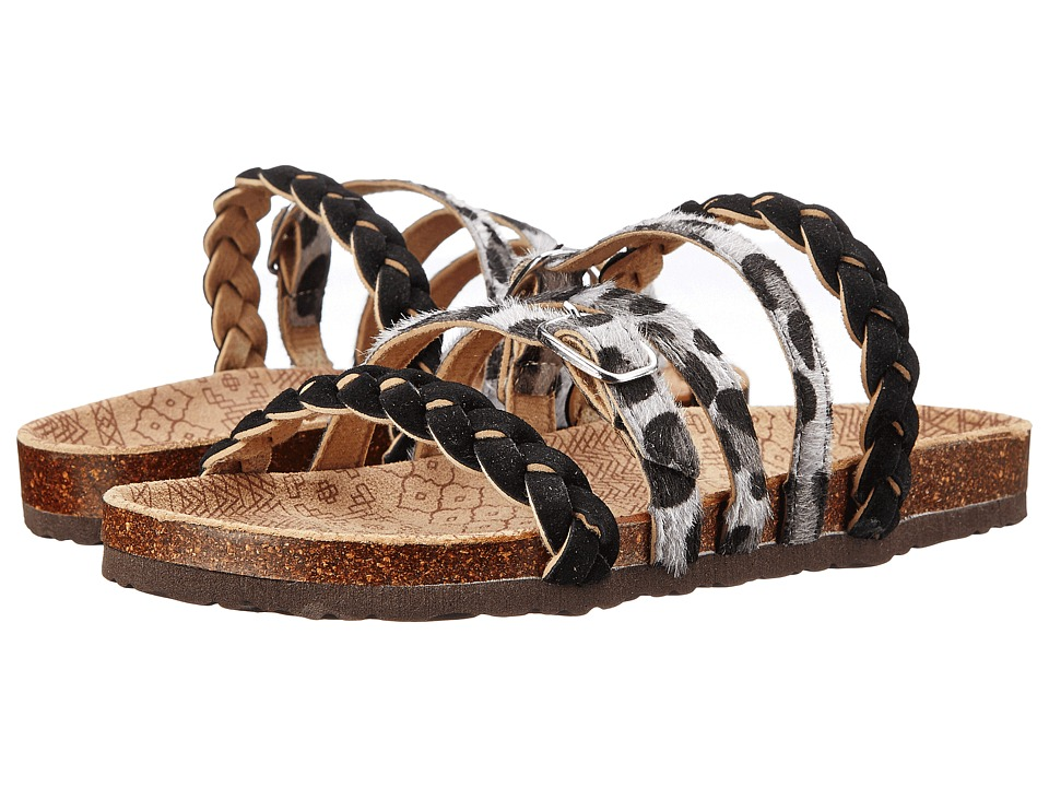 MUK LUKS - Mary Terra Turf Sandal (Grey Leopard) Women's Sandals