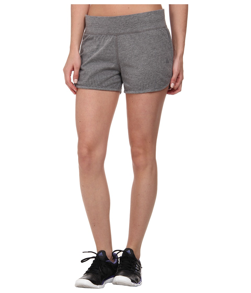 adidas - Aeroknit Shorts (Black Heather/Matte Silver) Women