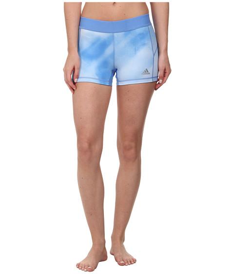 adidas - Techfit 3 Boy Short - Sunlight Camo Print (Lucky Blue Print/Lucky Blue/Matte Silver) Women