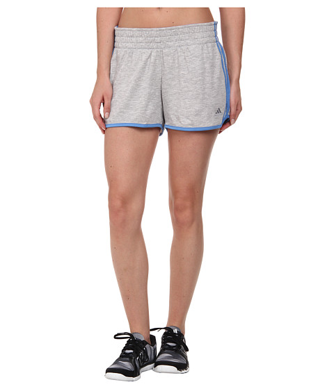 adidas - 2Love Short (Medium Grey Heather/Lucky Blue/Matte Silver) Women
