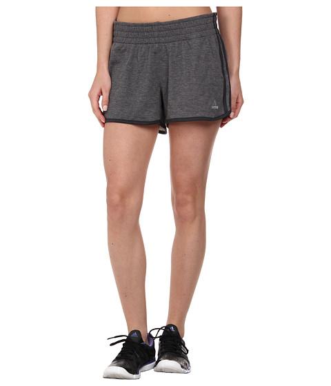 adidas - 2Love Short (Dark Grey Heather/Dark Grey/Matte Silver) Women's Shorts