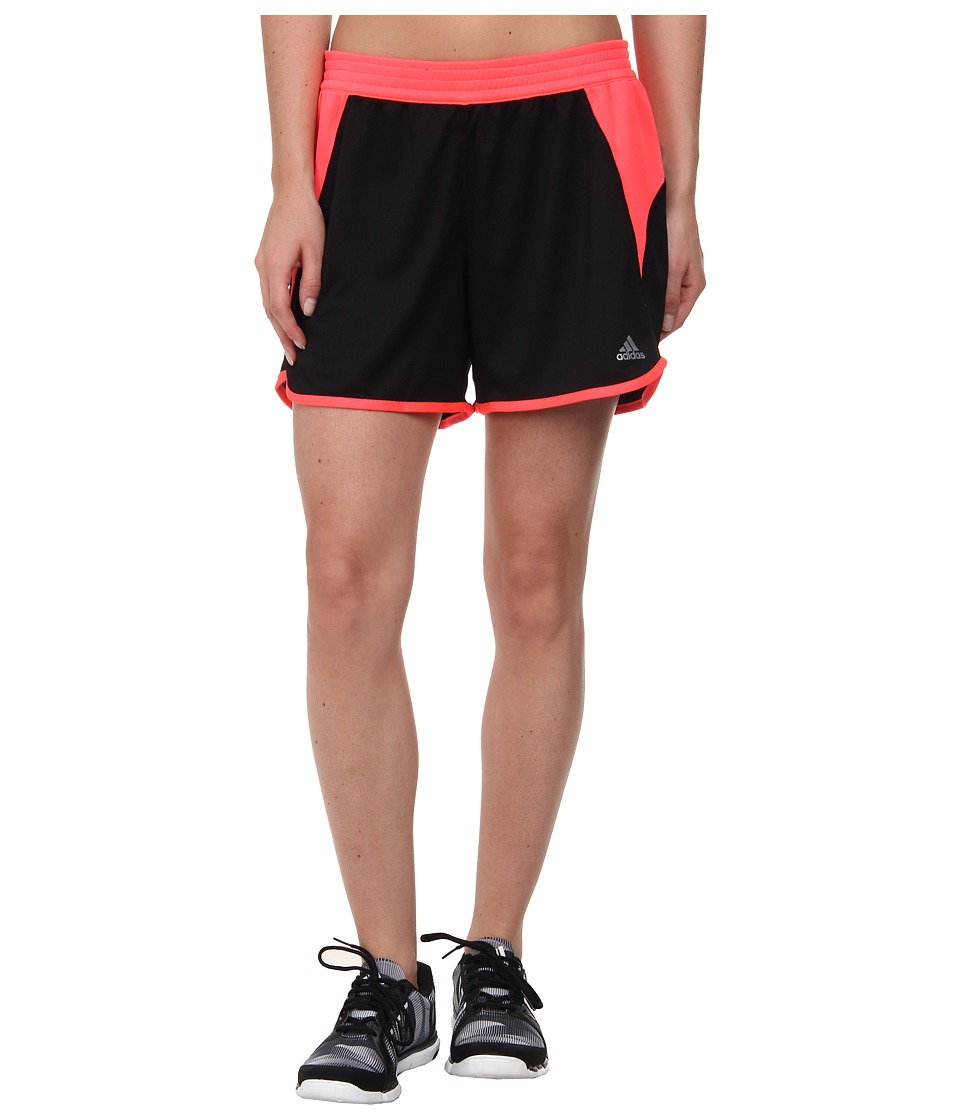 adidas - Roundhouse Knit Short (Black/Flash Red/Matte Silver) Women's Shorts