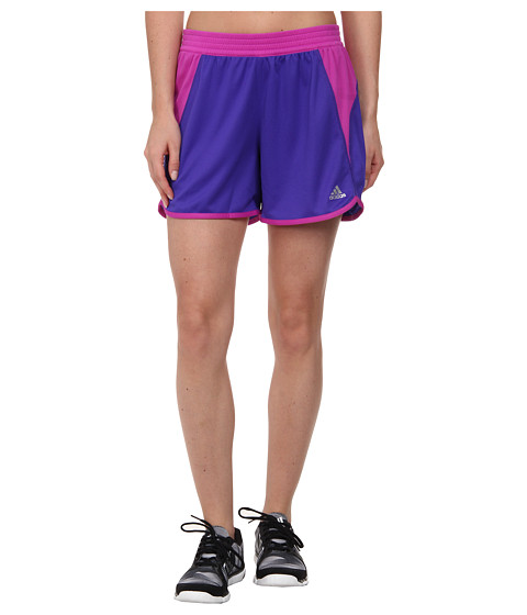 adidas - Roundhouse Knit Short (Night Flash/Flash Pink/Matte Silver) Women's Shorts