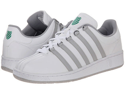 K-Swiss - Classic VN (White/Gull Gray/Jolly Green) Men's Shoes