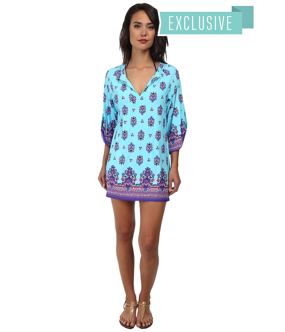 Nanette Lepore - Maharaja Tunic (Sky Blue) Women's Long Sleeve Pullover