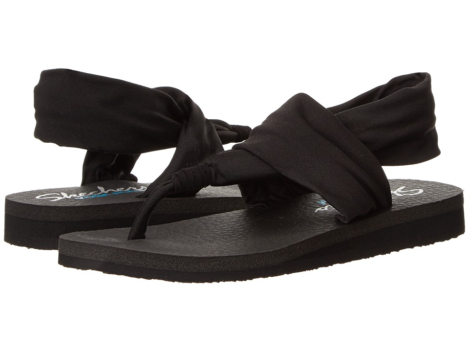 SKECHERS - Meditation (Black) Women's Sandals