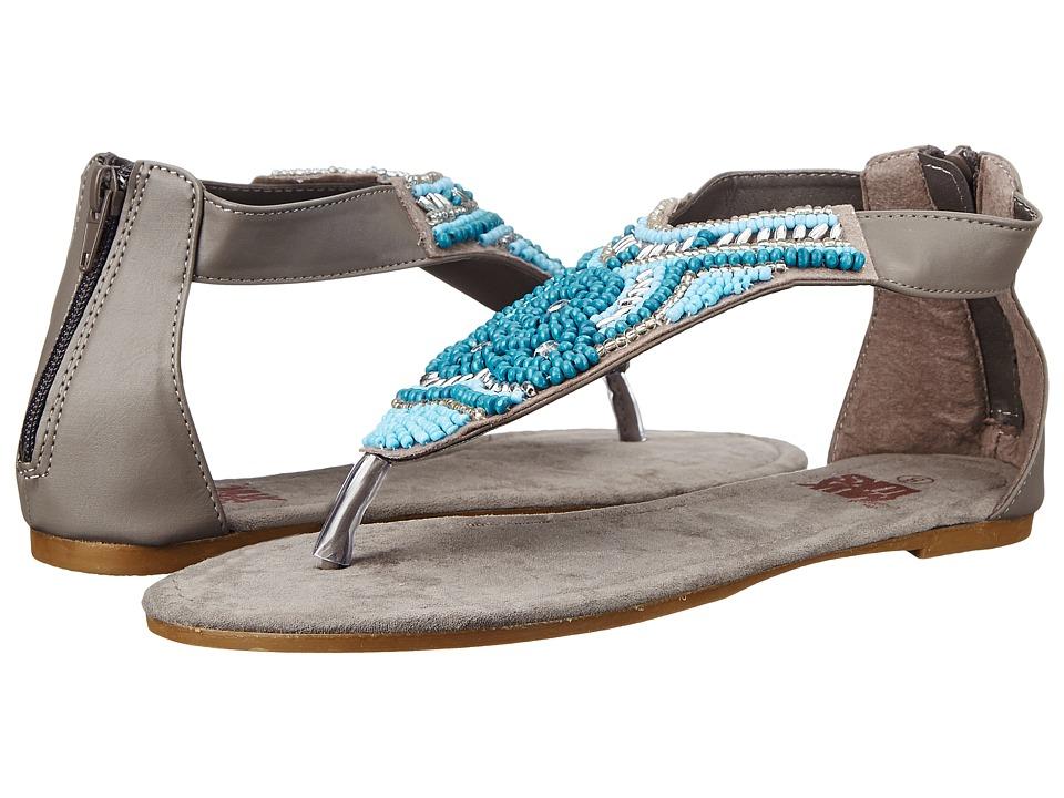 MUK LUKS Audrey Beaded Sandal (Dark Grey) Women